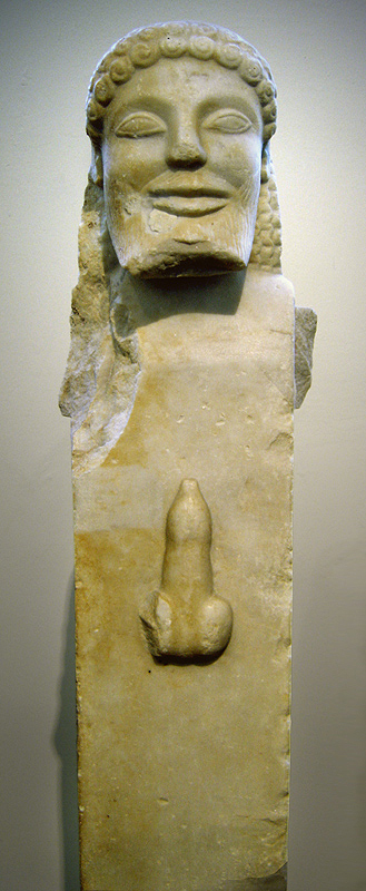Hermetic statue with Phallus