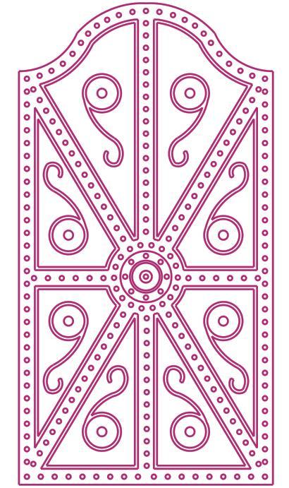 Άποψη της ασπίδας του Αίαντα βάση των Ομηρικών περιγραφών - Representation of Ajax shield, according to Homer's texts. Design by Nikolakopoulos Dimitris, Architect