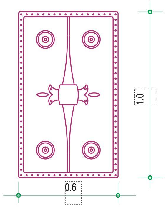 Πλούσια διακοσμημένη ασπίδα απο τους Μακεδονικούς τάφους των Λύσωνα και Καλλικλή - Decorated shield found in Makedonian tombs of Lysonas and Kallikles hoplites. Design by Nikolakopoulos Dimitris, Architect
