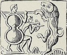Figure 11. Teukros is adept in fighting in conjunction to his brother Ajax, taking refuge behind his large shield before and after shooting his arrows with excellent accuracy in direct aiming. This implies low posture, perhaps kneeling. Image may be copyrighted.