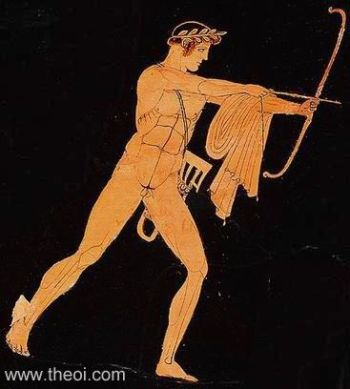 "Figure 5. The Greek archers are depicted with self-bows (""Libyan bow"") in many cases. Image may be copyrighted."