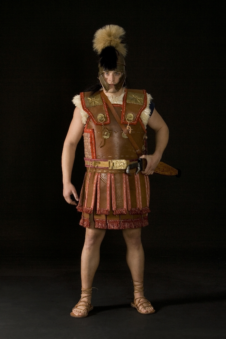 Reconstruction of Macedonian Seleucid Officer of the Royal Guard -  Middle 3rd century B.C.  Armor built by Dimitrios Katsikis, hellenicarmors.gr  Kopis built by Dimitrios Tertsis Photo: Andreas Smaragdis