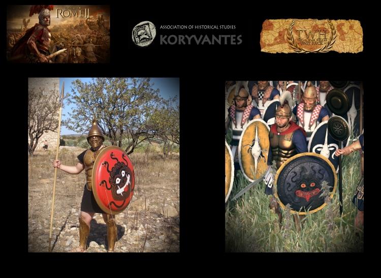 "Hoplite with musculata (muscular armor) for the TW Unit ""Entopioi - Cimmerian Bosporus""  - Photo Courtesy of KORYVANTES Association"
