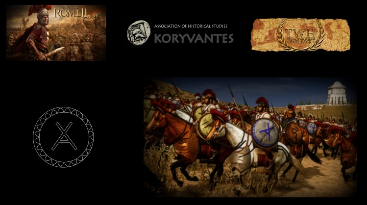 "Shield device (Emblem - Έμβλημα) of Achaeans for the TW Unit ""Achaean Loghos - Athens"" - Design by Dimitrios Nikolakopoulos, Architect"