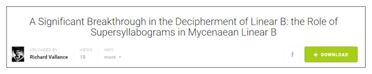 breakthrough in decipherment of Mycenaean Linear B title