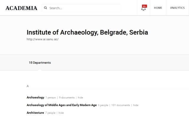 Institue of Archaeology Begrade